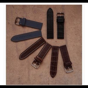 4 Leather Watch Bands for Apple Watch